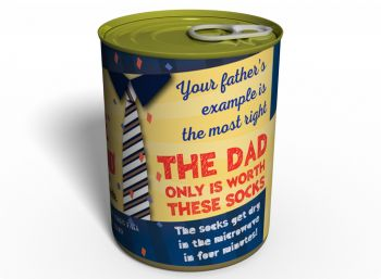 Canned Gifts - Best Dad Socks Gag Gifts for Dad - 1 Pair Quality Black Warm Man Cotton Socks - Fun Father's Day Gift Idea - Funny Quirky Useful Gifts and Present for Dad for Christmas and Birthday 650181561809