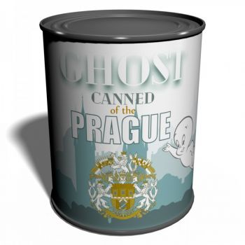 Canned Ghost of the Prague Unique gift from Praha Specter Czech Republic Phantom Ghostbusters Prank gift Wraith Silly gift Spirit Soul Can